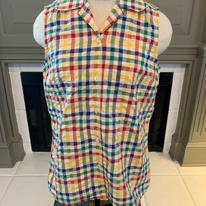 Bagutta Italy buttonup sleeveless size 42/small US